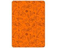 Чехол-подставка Deppa Wallet Onzo для iPad 9.7, оранжевый, с тиснением  88034