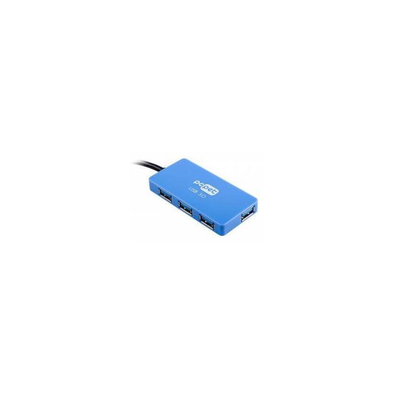 Хаб PC Pet ColorBoxBlue, 4 порта, USB 3.0, синий