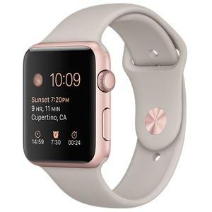 Часы Apple Watch Series 2 38mm розовые (алюминий) с розовым спортивным ремешком  (ЕСТ)
