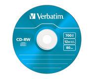 Диск CD-RW Verbatim 700Mb 8x-10x