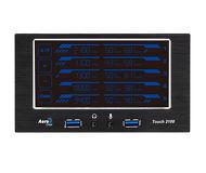 """Контроллер вентиляторов Aerocool Touch-2100 2x 5.25"""", 2x USB 3.0"""