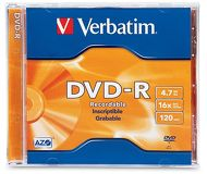 Диск DVD-R Verbatim 4.7Gb 16x (1шт) Printable (43521)