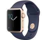 Часы Apple Watch Series 2 38mm золотистые (алюминий) с синим спортивным ремешком  (ЕСТ)