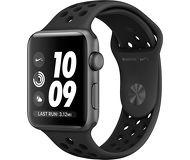 Часы Apple Watch Nike+ 42 mm серые (алюминий) с угольно-чёрным спортивным ремешком  (ЕСТ)
