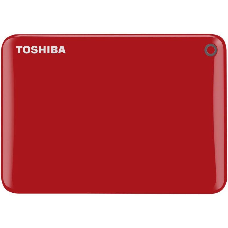 """Внешний жесткий диск Toshiba USB 3.0 1Tb HDTC810ER3AA Canvio Connect II 2.5"""" красный"""
