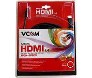Кабель HDMI-HDMI 15м v1.4 VCOM  VHD6020D-15MB  черный