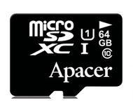 Флеш карта microSDXC 64Gb Apacer Class 10 AP64GMCSX10U1-RA