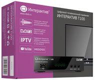 Ресивер DVB-T2 Интерактив Т100 черный