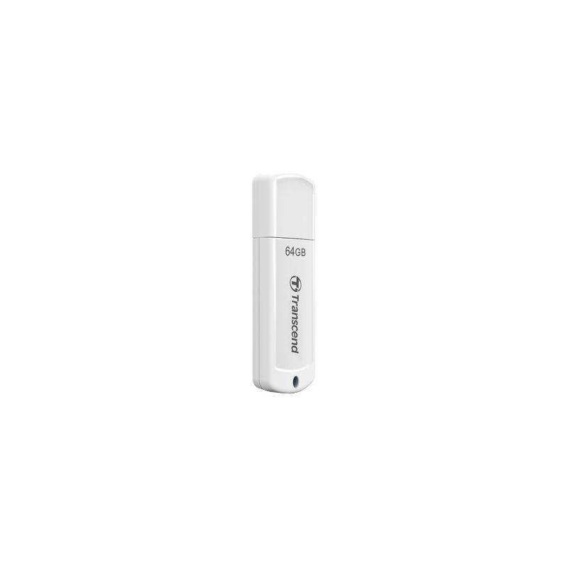 Флешка USB 64 ГБ Transcend JetFlash 370 [TS64GJF370] USB 2.0, белый