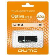 Флешка USB 32 ГБ QUMO USB2.0 Optiva 02 Black QM32GUD-OP2-black