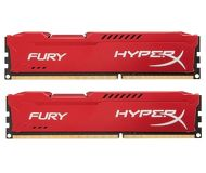 Память DDR3 8Gb 1600MHz PC12800 Kingston HyperX Fury Blue  HX316C10FK2/8  (2x4Gb)