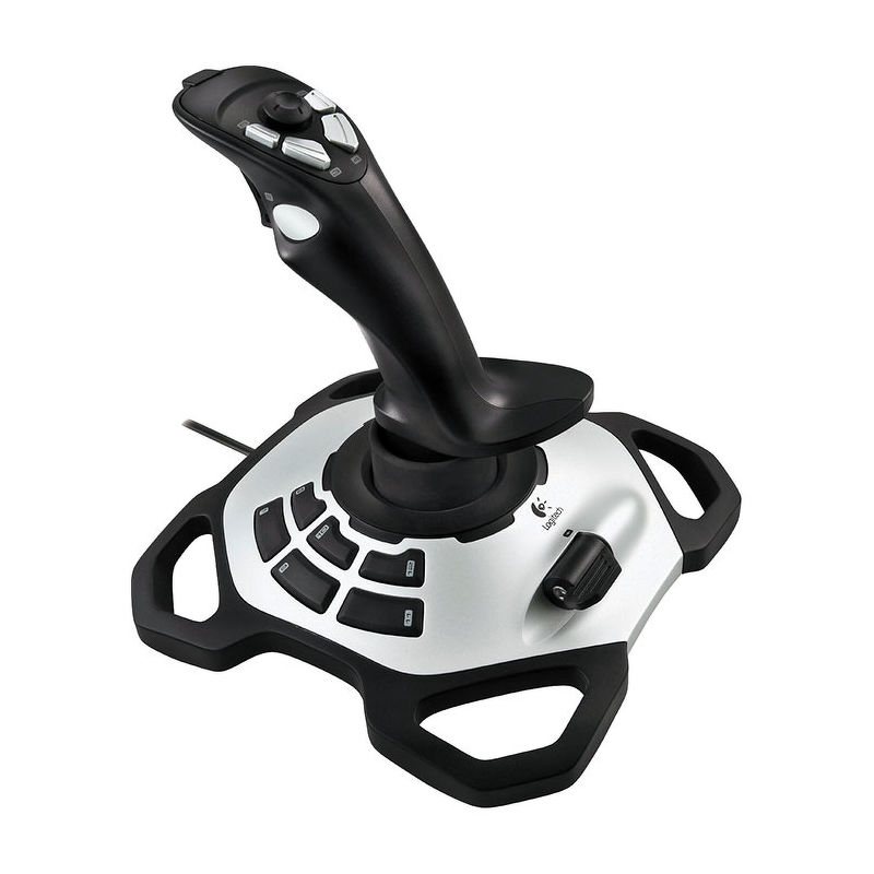 Джойстик Logitech Extreme 3D Pro, 4 оси, USB (942-000031)