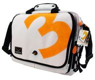 """Сумка 15"""" Canyon CNR-NB3W, трансформируется в рюкзак, бело-оранжевый"""