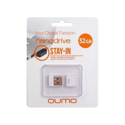 Флешка USB 32 ГБ QUMO Nano QM32GUD-NANO-W Белый