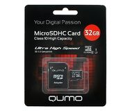 Карта памяти microSDHC 32 ГБ QUMO [QM32GMICSDHC10U1] Class 10 UHS-I