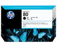 Картридж струйный HP 80 [C4871A] черный (350 мл, 2000 стр.)
