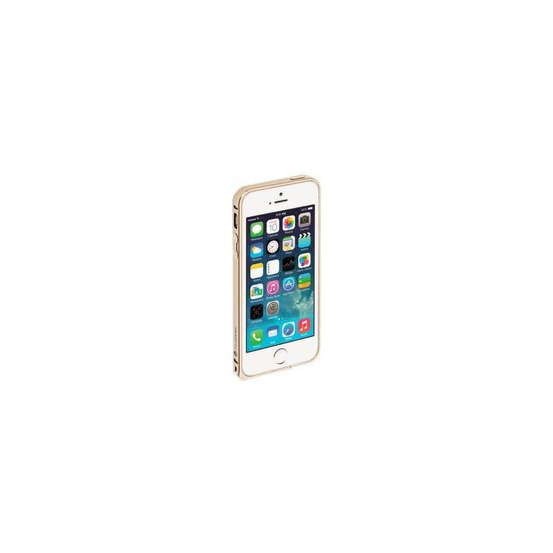 Бампер Deppa Alum Bumper для [iPhone 6/6S] + пленка на экран, алюминий, золотистый [63144]