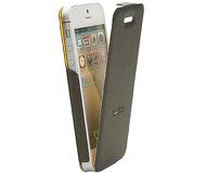 Флип-кейс Twitch iFlip Case для  iPhone 5/5S/SE , полиуретан, коричневый  MUTWIIP503