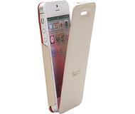 Флип-кейс Twitch iFlip Case для  iPhone 5/5S/SE , полиуретан, бежевый  MUTWIIP502