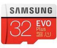 Карта памяти microSDHC 32 ГБ Samsung EVO PLUS [MB-MC32GA/RU] Class 10 UHS-I с адаптером