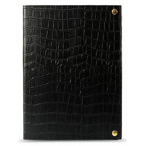 Чехол-книжка Melkco Crocodile Print для  iPad Air , кожа, черный