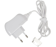 СЗУ Deppa  30-pin  для Apple, 1.0A, несъемный кабель, белый  23124