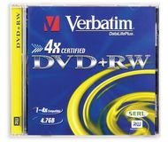 Диск DVD-RW Verbatim 4,7Gb 4x Jewel Case
