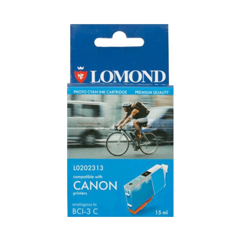 УЦЕНКА Картридж струйный Lomond BCI-3eC голубой для Canon BC-31, BC-33, S600 (L0202313)