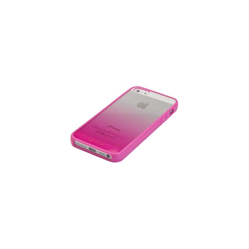 Накладка Muvit Sunglasses для  iPhone 5/5S  + пленка на экран, пластик, прозрачно-розов.  MUBKC0565