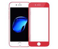 Защитное стекло 4D Glass для Apple  iPhone 7/8 , красное