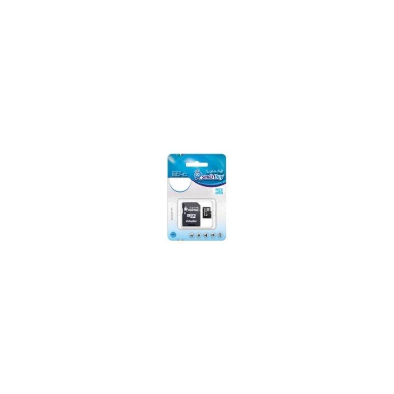 Флеш карта microSDHC 16Gb Smartbuy Class 10 SB16GBSDCL10-01 c адаптером