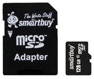 Карта памяти microSDXC 128 ГБ Smartbuy [SB128GBSDCL10-01] Class 10 UHS-I с адаптером