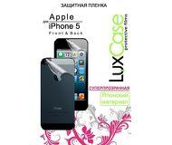 Защитная пленка LuxCase для Apple  iPhone 5/5S/SE , двухсторонняя, суперпрозрачная