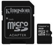 Флеш карта microSDHC 8Gb Kingston Class 10 SDC10G2/8GB c адаптером