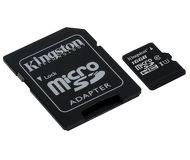 Флеш карта microSDHC 16Gb Kingston Class 10 SDC10G2/16GB c адаптером