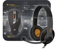 Набор игровой Defender Warhead MPH-1500  гарнитура проводная, мышь проводная, коврик