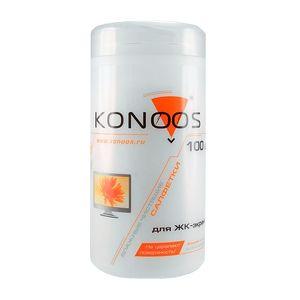 Салфетки Konoos KBF-100 для ЖК-экранов туба 100 шт.