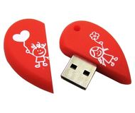 Флешка USB 8 ГБ Smartbuy Сердце [SB8GBHeart]