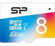 Карта памяти microSDHC 8 ГБ Silicon Power Elite [SP008GBSTHBU1V20SP] Class 10 с адаптером