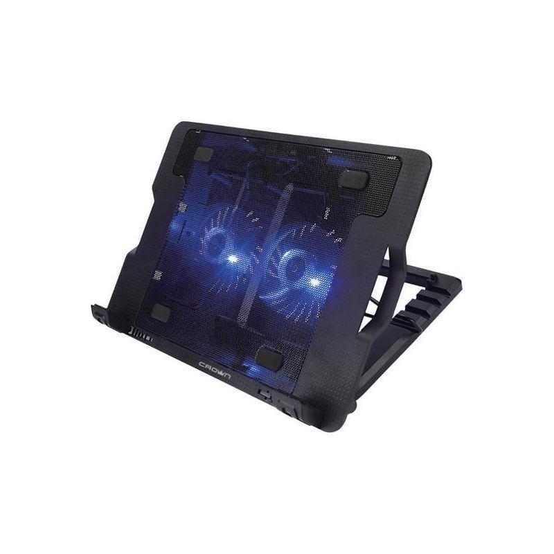 """Подставка охлаждающая 15.6"""" Crown CMLS-940, 2 вентилятора 120мм, подсветка, 2 USB"""
