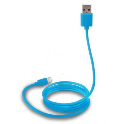 Дата-кабель Canyon Lightning - USB для Apple, MFi, 1.0м, синий [CNS-MFICAB01BL]