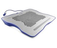 "Подставка охлаждающая 15.6"" Crown CMLC-1001, вентилятор 160мм, подсветка, металл, сер-гол"