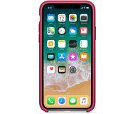 Чехол Apple Silicone Case для  iPhone X , малиновый  MQT82  реплика