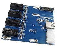 Переходник [LPE-41X] PCE-Ex1 M to 4xPCI-ex16 F, USB 3.0