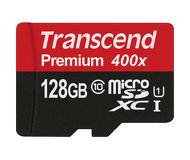 Флеш карта microSDXC 128Gb Transcend Class10 TS128GUSDU1 Premium с адаптером
