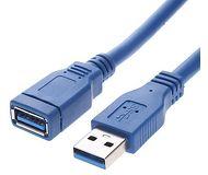 Кабель USB 3.0 Am-Af удлинительный 1.8м VCOM  VUS7065-1.8M