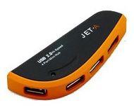 Хаб Jet.A JA-UH3 Muny, 4 порта, USB 2.0, черный/оранжевый